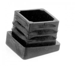 Inclined ribbed inserts for square tubes