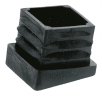Inclined ribbed inserts for rectangular tubes
