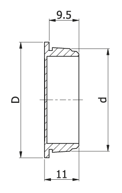 Push in Twin Component Grommet (Img 1)
